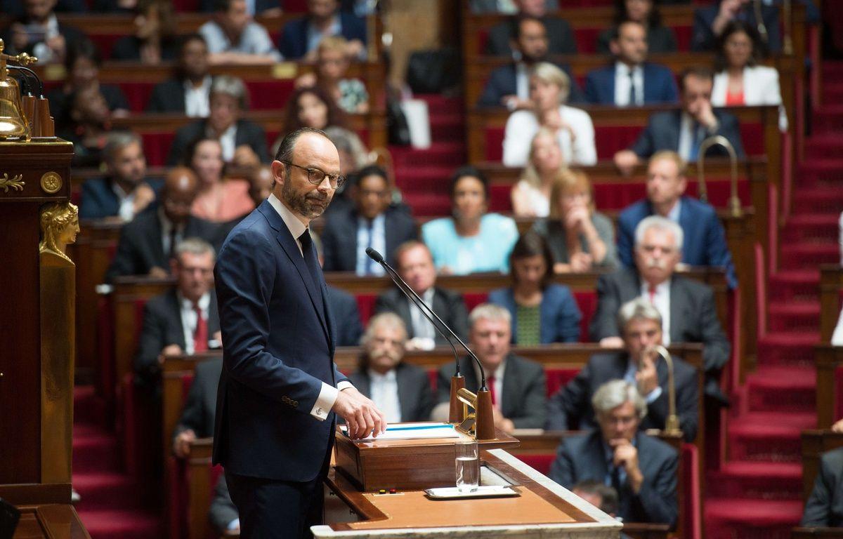 Le Premier ministre Edouard Philippe devant l'Assemblée, le 4 juillet 2017. – CHAMUSSY / WITT/SIPA
