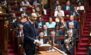 French prime minister, Edouard Philippe, pronounces a speech (declaration de politique generale) at French parliament  (assemblee nationale ).
