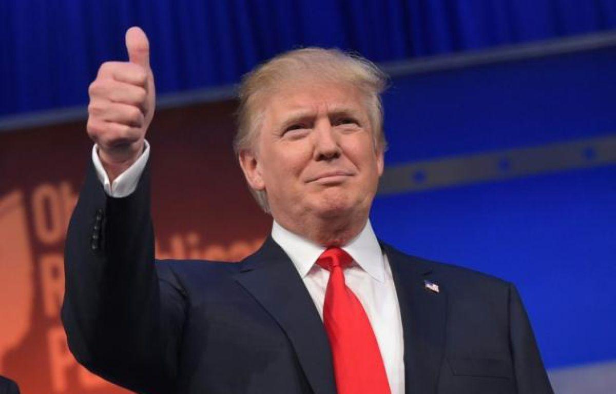 Donald Trump à son arrivée au premier débat des primaires républicaines le 6 août 2015 à Cleveland – MANDEL NGAN AFP