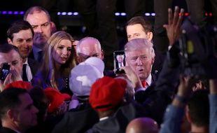 Donald Trump élu 45e président des Etats-Unis, le 8 novembre 2016.