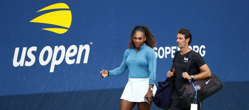 Serena Williams et Patrick Moratoglou lors du dernier US Open.