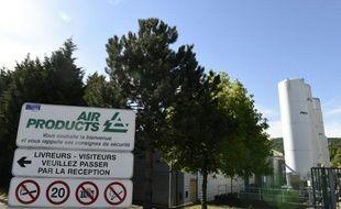 Le site d'Air Products le 29 juin 2015 à Saint-Quentin-Fallavier