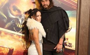 L'acteur Jason Momoa et sa petite amie Lisa Bonet.