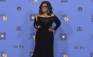 Oprah Winfrey aux Golden Globes le 7 janvier 2017
