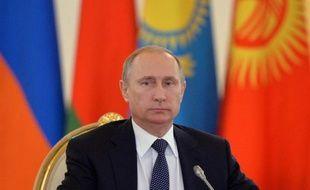 Le président russe Vladimir Poutine au cours d'une réunion de l'Organisation du traité de sécurité collective au Kremlin, le 23 décembre 2014