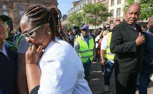 Les parents de Naomi Musenga lors de la marche blanche organisée à Strasbourg en mai. Illustration