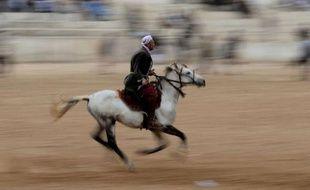 Les chevaux puissants ruent en s'enfonçant dans la mêlée animale quand leurs cavaliers, fouet à la main ou entre les dents, cherchent à s'emparer du trophée, le cadavre d'un veau : le bouzkachi, sport centenaire afghan, est aussi magique que violent.