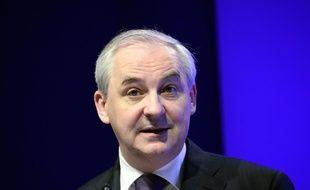 François Pérol (ici en 2011), ex-conseiller de Nicolas Sarkozy et président du groupe bancaire BPCE. AFP PHOTO / BERTRAND GUAY