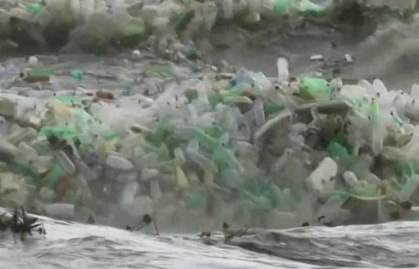VIDEO. Des tonnes de plastiques s'échouent sur un plage d'Afrique du sud
