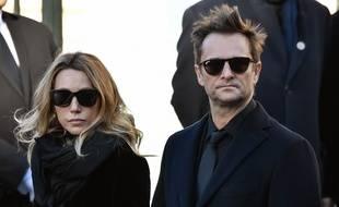 David Hallyday et Laura Smet lors des obsèques de Johnny Hallyday, le 9 décembre 2017.