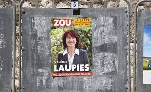Affiche électorale de Valérie Laupies.