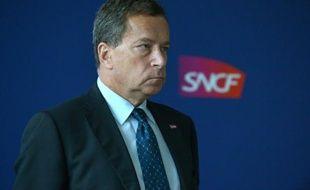 Jacques Rapoport, directeur de RFF, le 19 novembre 2015 à La Plaine-Saint-Denis, en Seine-Saint-Denis