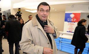 Jean-François Lamour, député UMP de Paris, le 19 novembre 2012 au siège de l'UMP à Paris.