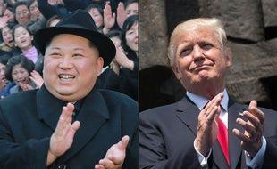 Kim Jong-un et Donald Trump. AFP PHOTO / KCNA VIA KNS AND AFP PHOTO /SAUL LOEB.