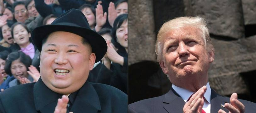 Kim Jong-un et Donald Trump. AFP PHOTO / KCNA VIA KNS AND AFP PHOTO /SAUL LOEB.