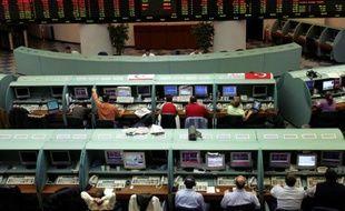 La Bourse à Istanbul, le 30 avril 2007