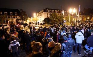Les policiers s'étaient rassemblés à Viry-Châtillon, le 8 novembre 2016, pour protester contre l'agression de deux policiers qui a eu lieu le 8 octobre 2016.