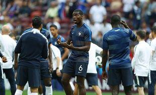 Paul Pogba, ici avant la rencontre France-Danemark mardi.
