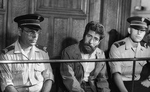 Le Libanais Georges Ibrahim Abdallah lors de son procès à Lyon, le 3 juillet 1986