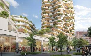 La tour Higher Roch, dont la livraison est prévue pour le second semestre 2020, culminera à 50m dans le ciel de Montpellier
