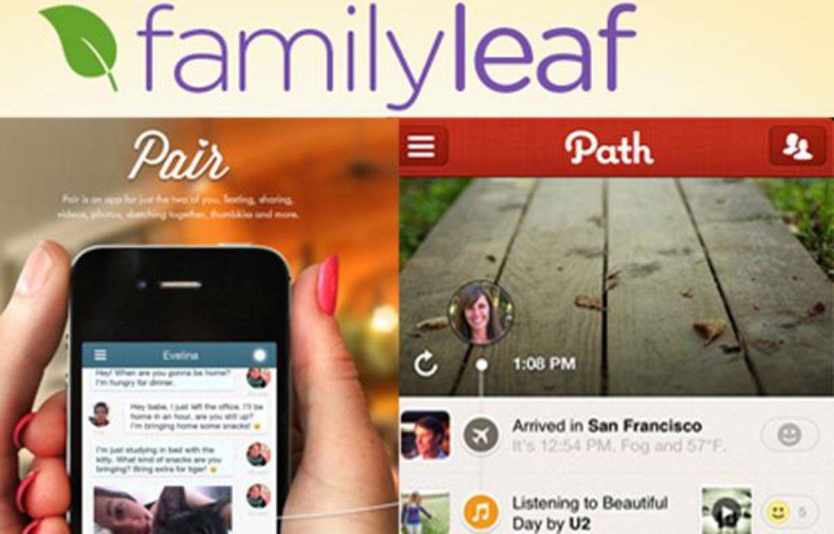 Les réseaux sociaux Pair, Path et Family Leaf, réservés aux proches. – PHOTOMONTAGE/20MINUTES.FR