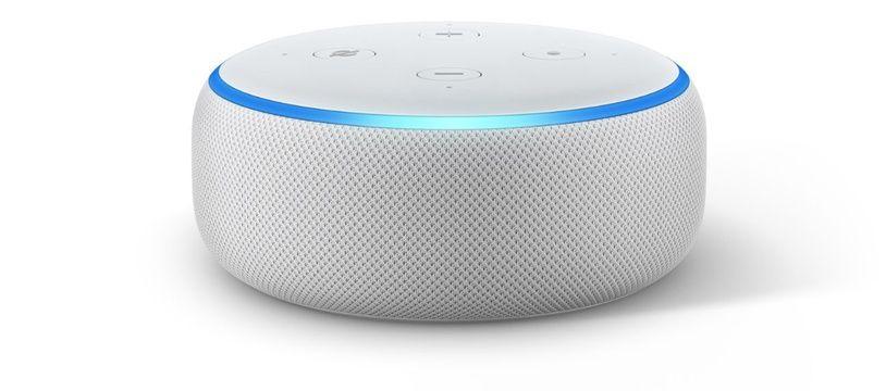 L'enceinte Amazon Echo Dot, troisième du nom.