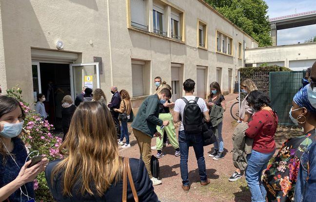 Beaucoup de monde avait fait le déplacement au centre de vaccination sans prendre rendez-vous