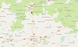 L'accident a eu lieu sur la ligne Le Mans-Alençon.