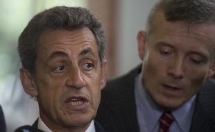 Nicolas Sarkozy (Les républicains)./ AFP PHOTO / EITAN ABRAMOVICH