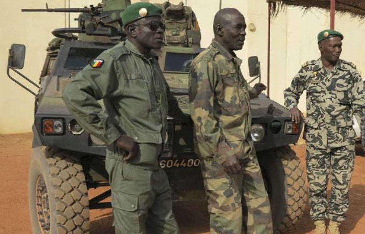 Des soldats maliens à Sevare (Mali), le 25 janvier 2013. – STRINGER / REUTERS