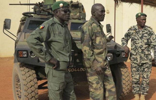 Des soldats maliens à Sevare (Mali), le 25 janvier 2013.