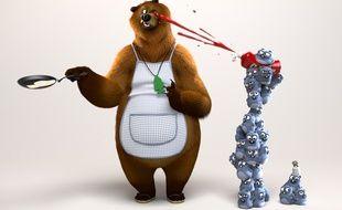 Visuel promo de la série d'animation «Grizzy et les lemmings» diffusée sur France 4.