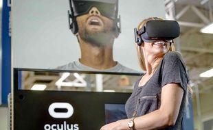 Illustration: le casque de réalité virtuelle Oculus Rift.