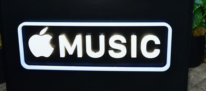 Apple music, le logo.
