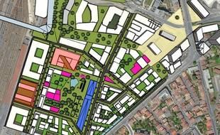 Le projet de campus François-d'Assise verra le jour à la pointe sud du Jardin d'Armagnac.