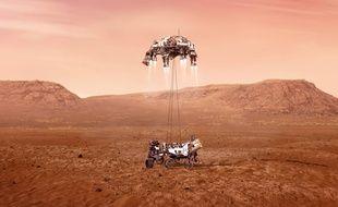 De la vapeur d'eau découverte dans l'atmosphère de Mars (Illustration)