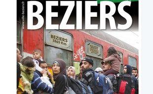 La une du journal municipal de Béziers de septembre 2015.