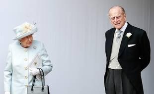 Elizabeth II et son mari, le Prince Philip, le 12 octobre 2018 à Windsor.