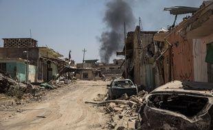 Le quartier d'Al Zinjili, à Mossoul Ouest, le 13 juin 2017.
