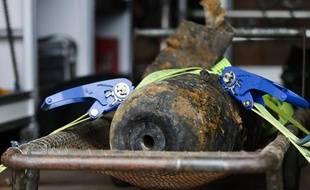 Une bombe datant de la Seconde Guerre mondiale, découverte à Berlin en avril 2013.