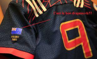 Le maillot des français face aux All-Blacks