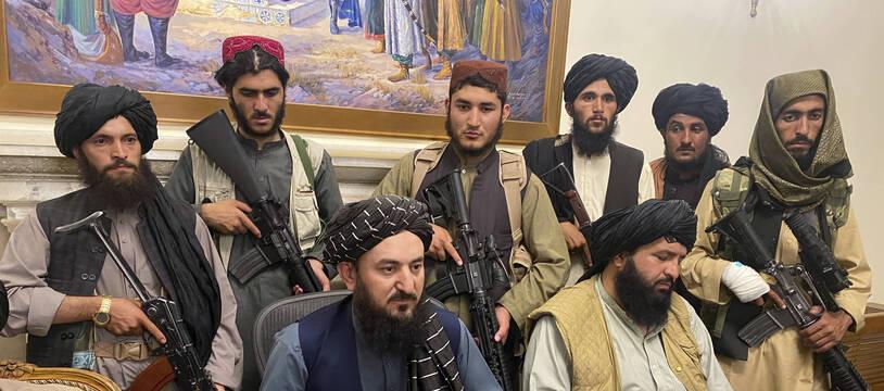 Les talibans ont pris possession du palais présidentiel, à Kaboul le 15 août 2021.