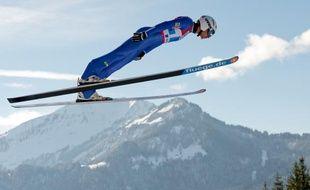 Jason Lamy-Chappuys lors d'un saut à Oberhof, en 2013