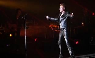 Johnny Hallyday sur scène à Tel Aviv le 30 octobre 2012.