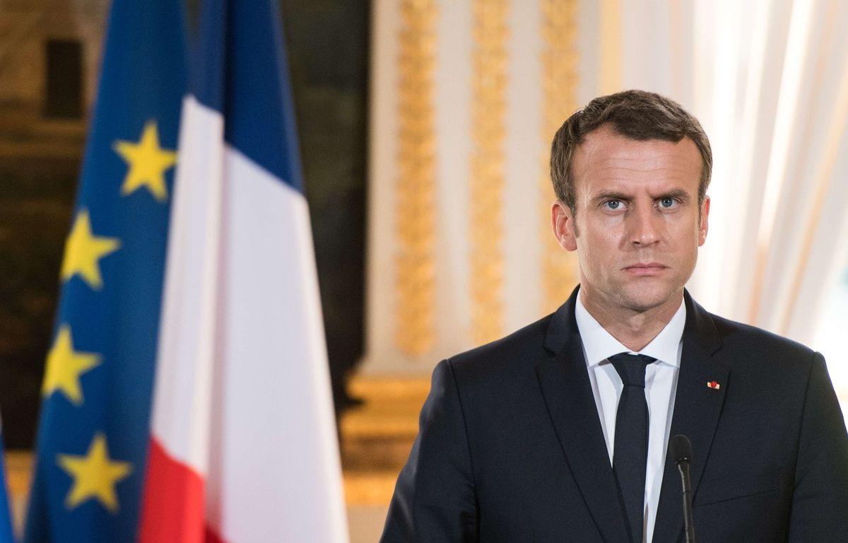 Non, Emmanuel Macron ne possède pas de villa à Marrakech via une société offshore. –  Blondet Eliot-POOL/SIPA