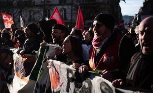A la manifestation de jeudi à Paris.