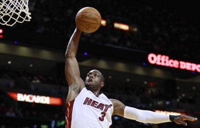 Le meneur de Miami, Dwyane Wade, le 29 décembre 2010 face à New-York