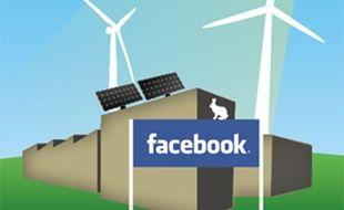 Capture d'écran du site de Greenpeace: campagne contre Facebook pour l'utilisation d'énergies renouvelables.
