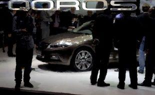 Séduire les automobilistes européens pour mieux vendre des voitures en Chine, c'est le pari lancé par le constructeur chinois Qoros présent au salon automobile de Genève.