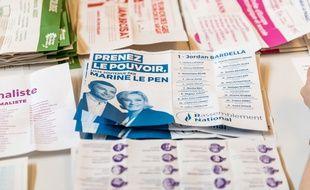 Un bulletin de vote des élections européennes, à Lyon, le 26 mai 2019.